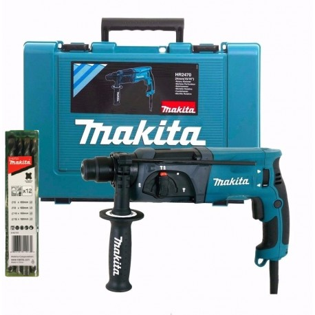 Rotomartillo Makita Hr2470 + Maletin +12 Mechas