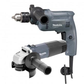 Combo Makita Taladro Percutor M0801g 16mm + Amoladora M0901